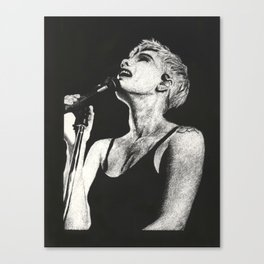 Halsey Black and White Scratchboard Canvas Print