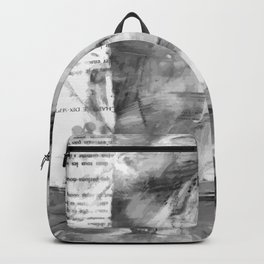 Triskelion Book Abstract Black and White by Ericka O'Rourke Backpack