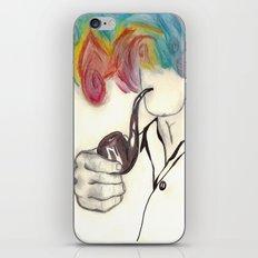 Blowing Smoke iPhone & iPod Skin