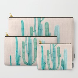 Three Amigos Turquoise + Coral Carry-All Pouch
