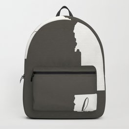 Vermont is Home - White on Charcoal Backpack