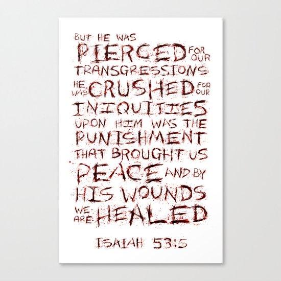 Our Sin, His Sacrifice Canvas Print