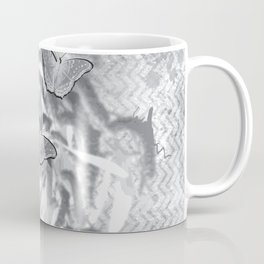Butterflies in a gray abstract landscape Coffee Mug