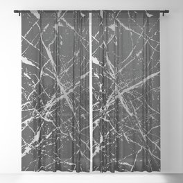 Silver Splatter 090 Sheer Curtain