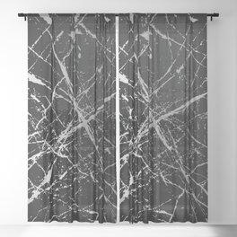 Silver Splatter 090 Sheer Curtain