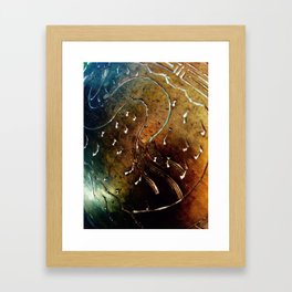 Brass pattern Framed Art Print