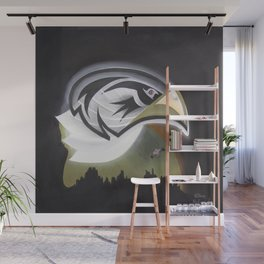 Eagle Rules the Moon Wall Mural