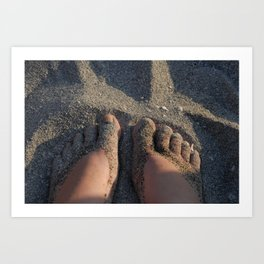 Shoes of Sand Art Print