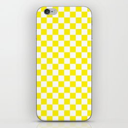 Yellow Checkerboard Pattern iPhone Skin