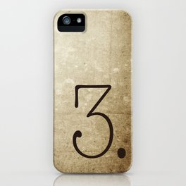 NUMBER 3 iPhone Case
