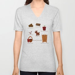Colors: brown (Los colores: marrón) Unisex V-Neck