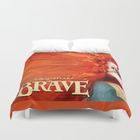 merida Duvet Covers featuring Brave: Merida by Schewy