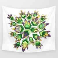 new orleans Wall Tapestries featuring NEW ORLEANS by Dorienn Medrano