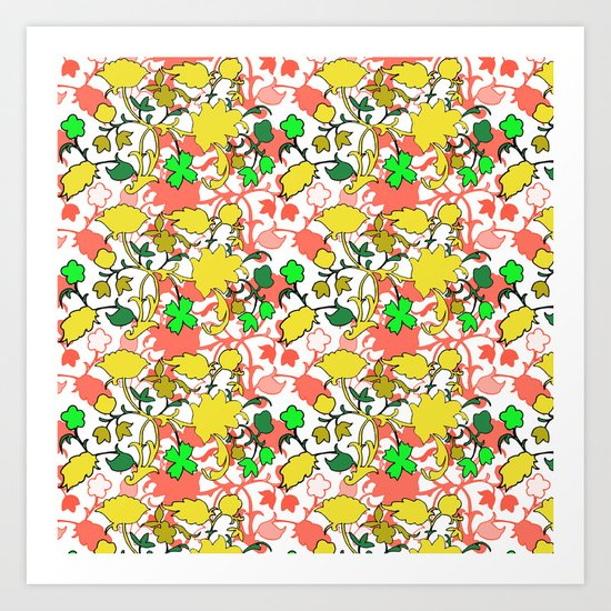 Lila's Flowers Repeat Art Print