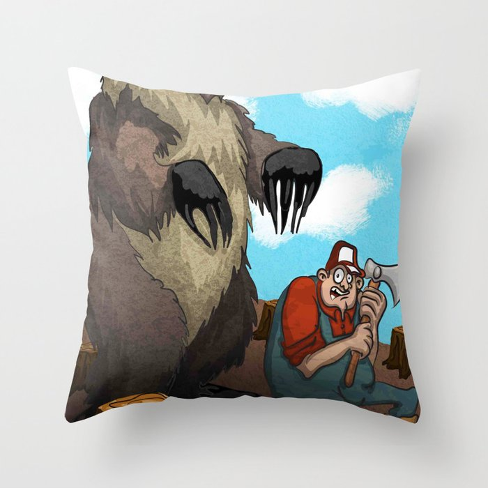 Man Vs Nature Throw Pillow By Galaart Society6