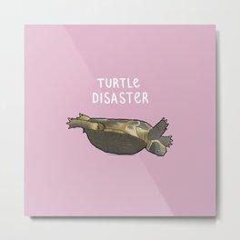Turtle Disaster Metal Print