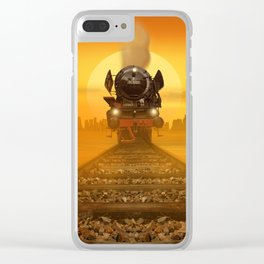 Steam Train in the evening light Clear iPhone Case