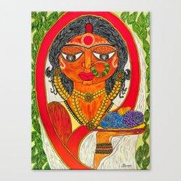 East Indian Bengali Bride Canvas Print