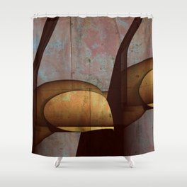 Through The Cracks Shower Curtain