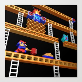 Inside Donkey Kong stage 2 Canvas Print