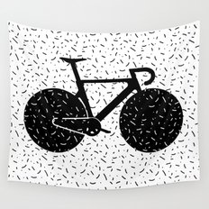 Track Bike Wall Tapestry