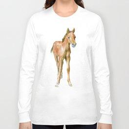 Watercolor Horse Painting Long Sleeve T-shirt