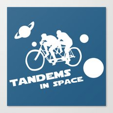 Tandems in Space in Blue Canvas Print