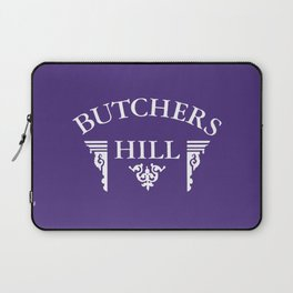 Butchers Hill Classic Logo on Purple Laptop Sleeve