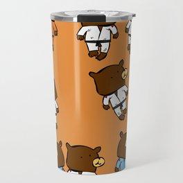martial beartist of  judo karate ....  Travel Mug