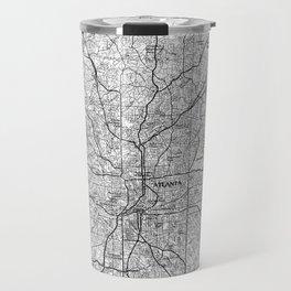Atlanta Georgia Map (1981) BW Travel Mug