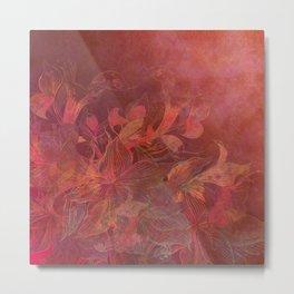 """Rose Gold Flowers"" Metal Print"