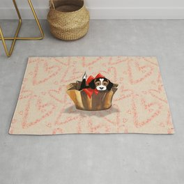 The Love Puppy — Chocolate Candy Rug