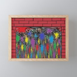 Magical Fireplace Framed Mini Art Print