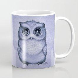 """The Little Owl"" by Amber Marine ~ (Lavender Bud Version) Pencil&Ink Illustration, (Copyright 2016) Coffee Mug"