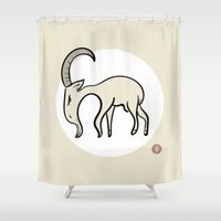 goat Shower Curtains featuring Goat by Emir Simsek