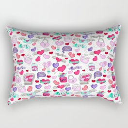 Lovely doodle drawing Valentine's Day gift Rectangular Pillow