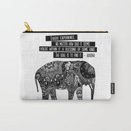 Blessing Buddha Quote Carry-All Pouch