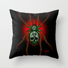 Arachnazrael Throw Pillow