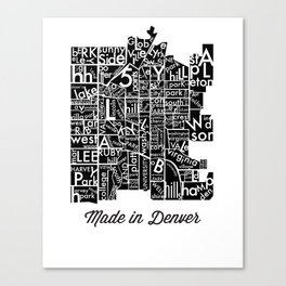 made in denver Canvas Print
