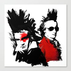 Beethoven Mozart Punk Composers Canvas Print