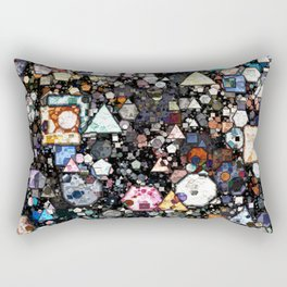 Colorful Layers of Geometric Shapes Rectangular Pillow