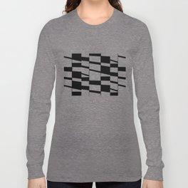 Slanting Rectangles - Black and White Graphic Art by Menega Sabidussi Long Sleeve T-shirt
