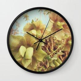 Spring Hellebore Wall Clock