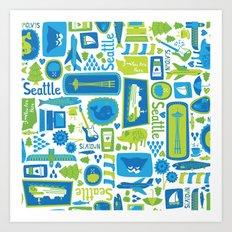 Sights of Seattle Art Print