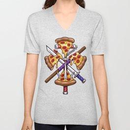 Ninja Pizza Unisex V-Neck