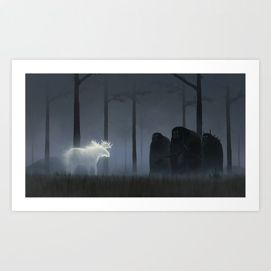Wandering In The Night Art Print