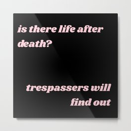 life after death Metal Print