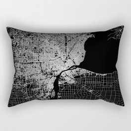 Detroit map  Rectangular Pillow