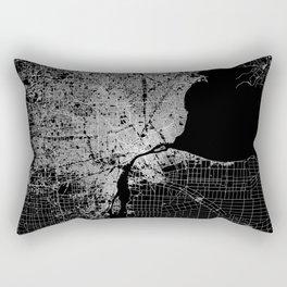 Detroit map  Rectangular Pillow