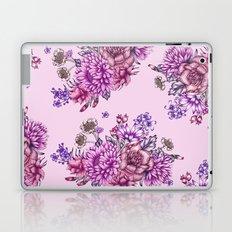 Pink Vintage Florals Laptop & iPad Skin